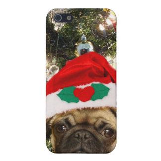 Christmas Pug dog iPhone 5 Cases