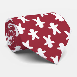 Christmas Red Gingerbread Man Pattern Tie