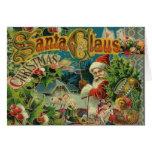 Christmas Santa Claus Vintage St Nick Greeting Card