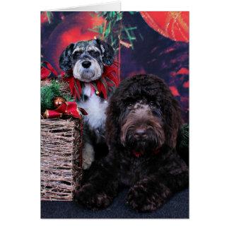 Christmas - Schnauzer Apache - Bowen LabraDoodle Note Card