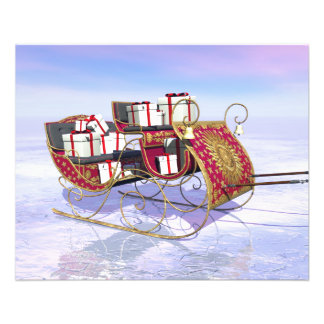 Christmas sleigh carrying gifts 11.5 cm x 14 cm flyer