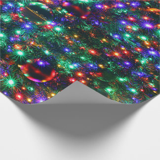 Christmas Sparkling Stars Wrapping Paper