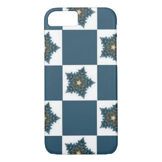 Christmas Star Checkerboard iPhone 7 Case
