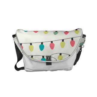Christmas String of Lights Pattern Courier Bags