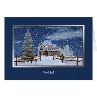 Christmas, Swedish, God Jul Greeting Card
