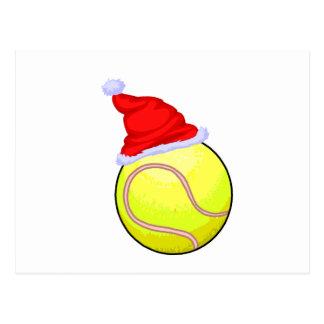 Christmas Tennis Postcard