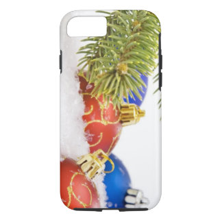 Christmas Tree Ornaments In Snow iPhone 7 Case