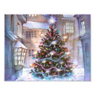 Christmas Tree Vintage Art Photo