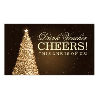 Christmas Wedding Drink Voucher Gold Pack Of Standard Business Cards
