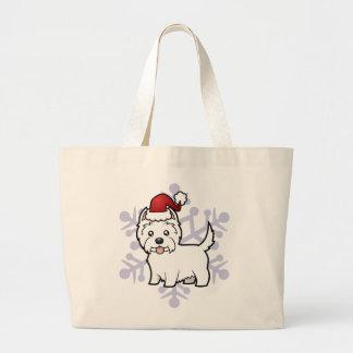 Christmas West Highland White Terrier Jumbo Tote Bag