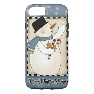 Christmas Winter Snowman Wishes iPhone 7 Case