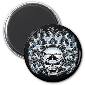 Chromeboy Crossbones 6 Cm Round Magnet