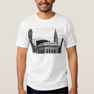 Chrysler Building, Flatiron, Clouds B&W Tee Shirt