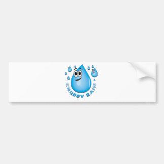 chubby rain bumper sticker