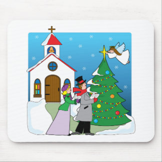 Church Carolers Mouse Pad