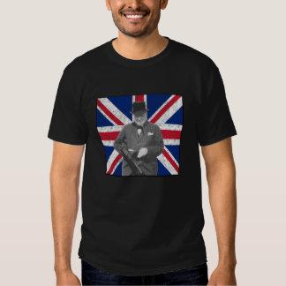 Churchill Posing With A British Flag Shirts
