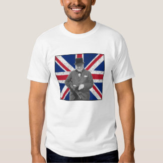 Churchill Posing With A Tommy Gun Tee Shirts