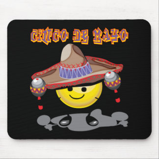 Cinco de Mayo Happy Face T-shirts and Gifts Mouse Pad