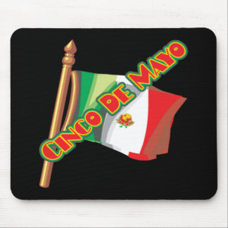 Cinco de Mayo Mexico Flag T-shirts and Gifts Mouse Pad
