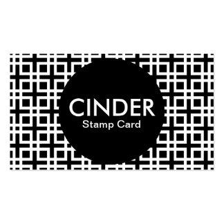 cinder stamp card pack of standard business cards