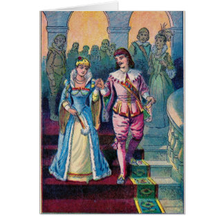 Cinderella and the Prince, Greeting Card