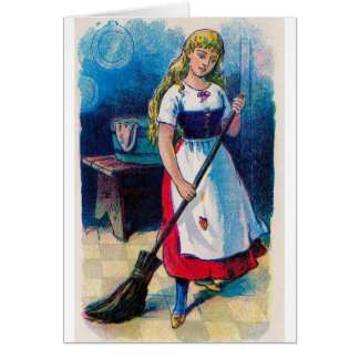 Cinderella's Chores Greeting Card