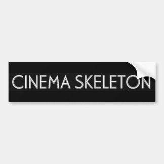 Cinema Skeleton Bumper Sticker