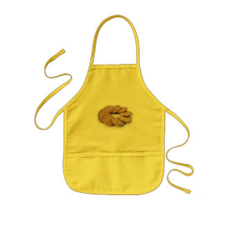 Circle of cookies on a white background kids apron