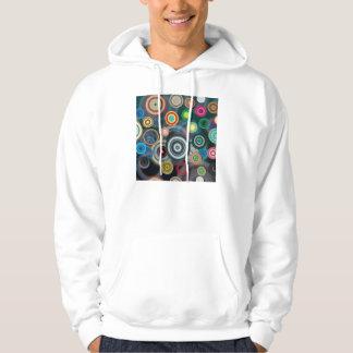 Circles Design Hooded Sweatshirts