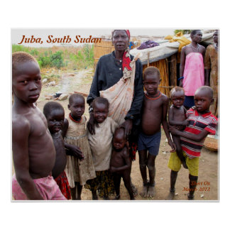 Citizens in Juba, South Sudan Poster