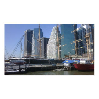 City Harbor Boats Pack Of Standard Business Cards
