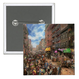 City - NY - Flavors of Italy 1900 15 Cm Square Badge