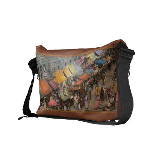 City - NY - Jewish market on the East Side 1890 Messenger Bags