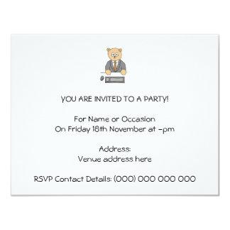 City Worker Professional. 11 Cm X 14 Cm Invitation Card