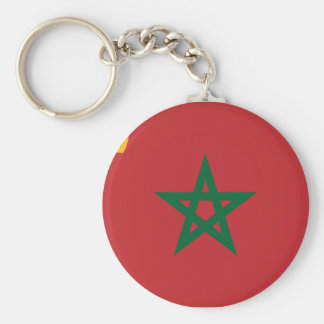 Civil Ensign Morocco, Morocco Basic Round Button Key Ring