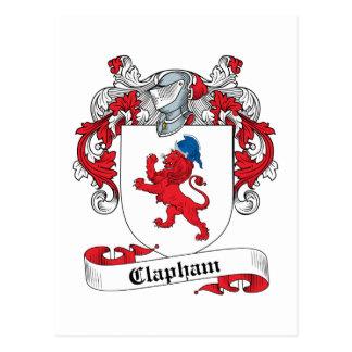 Clapham Family Crest Postcard