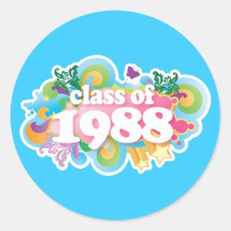 Class of 1988 round sticker