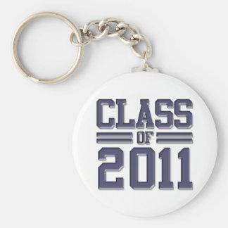 Class of 2011 Graduation Basic Round Button Key Ring