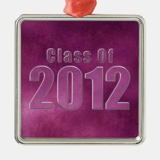 Class of 2012 Graduation Ornament Purple Grunge