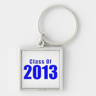 Class of 2013 Keychain Blue and Silver