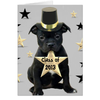 Class of 2013 Staffordshire Bull Terrier card