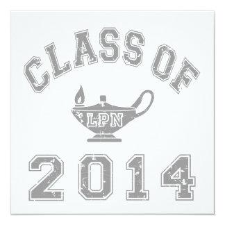 Class Of 2014 LPN - Grey 2 13 Cm X 13 Cm Square Invitation Card