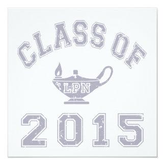 Class Of 2015 LPN 13 Cm X 13 Cm Square Invitation Card
