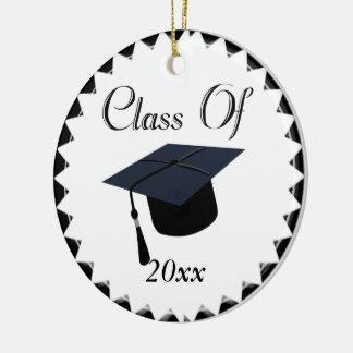 Class Of 2016 Graduation Cap Round Ceramic Decoration