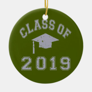Class Of 2019 Graduation - Grey Round Ceramic Decoration