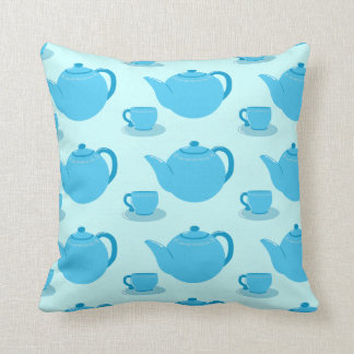 Classic Blue Teapot Throw Cushions