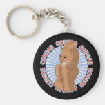 Classic Cougar Basic Round Button Key Ring