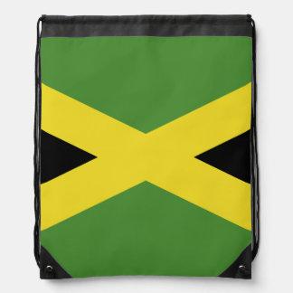 Classic Jamaican Flag Drawstring Bags