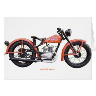 Classic Motorbike 125 HD_Texturized.gif Greeting Card