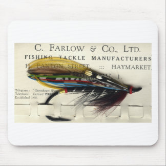 Classic Salmon Fly on card Mouse Pad
